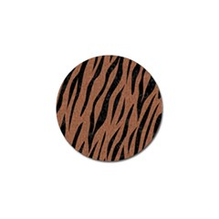 Skin3 Black Marble & Brown Denim Golf Ball Marker (4 Pack) by trendistuff