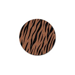 Skin3 Black Marble & Brown Denim Golf Ball Marker (10 Pack) by trendistuff