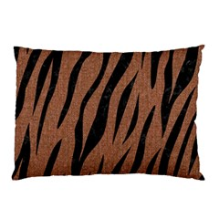 Skin3 Black Marble & Brown Denim Pillow Case (two Sides)
