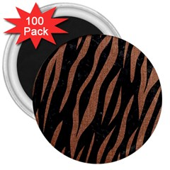 Skin3 Black Marble & Brown Denim (r) 3  Magnets (100 Pack) by trendistuff