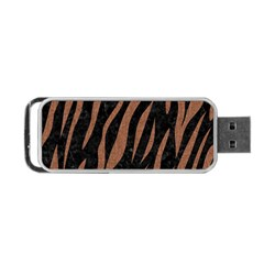 Skin3 Black Marble & Brown Denim (r) Portable Usb Flash (two Sides) by trendistuff