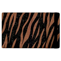 Skin3 Black Marble & Brown Denim (r) Apple Ipad 2 Flip Case by trendistuff