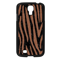 Skin4 Black Marble & Brown Denim Samsung Galaxy S4 I9500/ I9505 Case (black) by trendistuff