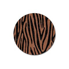 Skin4 Black Marble & Brown Denim (r) Magnet 3  (round) by trendistuff