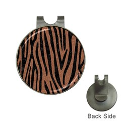 Skin4 Black Marble & Brown Denim (r) Hat Clips With Golf Markers by trendistuff