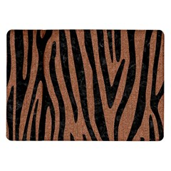 Skin4 Black Marble & Brown Denim (r) Samsung Galaxy Tab 10 1  P7500 Flip Case by trendistuff