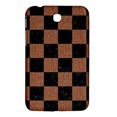 Square1 Black Marble & Brown Denim Samsung Galaxy Tab 3 (7 ) P3200 Hardshell Case  by trendistuff