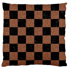 Square1 Black Marble & Brown Denim Standard Flano Cushion Case (one Side) by trendistuff