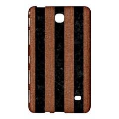 Stripes1 Black Marble & Brown Denim Samsung Galaxy Tab 4 (7 ) Hardshell Case  by trendistuff