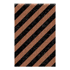 Stripes3 Black Marble & Brown Denim (r) Shower Curtain 48  X 72  (small)