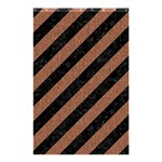 STRIPES3 BLACK MARBLE & BROWN DENIM (R) Shower Curtain 48  x 72  (Small)  42.18 x64.8 Curtain