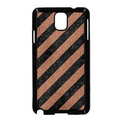 Stripes3 Black Marble & Brown Denim (r) Samsung Galaxy Note 3 Neo Hardshell Case (black) by trendistuff