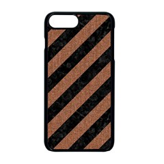 Stripes3 Black Marble & Brown Denim (r) Apple Iphone 8 Plus Seamless Case (black) by trendistuff