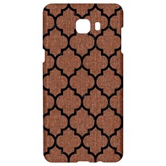 Tile1 Black Marble & Brown Denim Samsung C9 Pro Hardshell Case