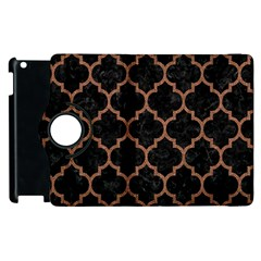 Tile1 Black Marble & Brown Denim (r) Apple Ipad 3/4 Flip 360 Case by trendistuff