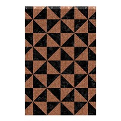 Triangle1 Black Marble & Brown Denim Shower Curtain 48  X 72  (small)  by trendistuff