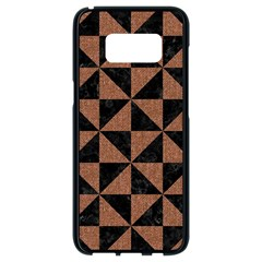 Triangle1 Black Marble & Brown Denim Samsung Galaxy S8 Black Seamless Case by trendistuff