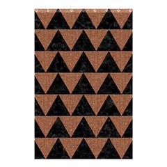 Triangle2 Black Marble & Brown Denim Shower Curtain 48  X 72  (small)
