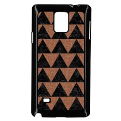 Triangle2 Black Marble & Brown Denim Samsung Galaxy Note 4 Case (black) by trendistuff