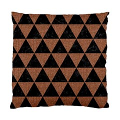 Triangle3 Black Marble & Brown Denim Standard Cushion Case (two Sides) by trendistuff