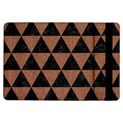 Triangle3 Black Marble & Brown Denim Ipad Air Flip by trendistuff