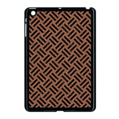 Woven2 Black Marble & Brown Denim Apple Ipad Mini Case (black) by trendistuff