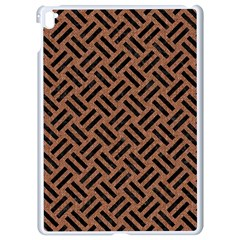 Woven2 Black Marble & Brown Denim Apple Ipad Pro 9 7   White Seamless Case by trendistuff