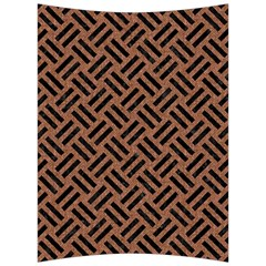 Woven2 Black Marble & Brown Denim Back Support Cushion