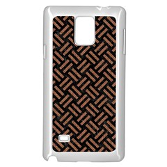 Woven2 Black Marble & Brown Denim (r) Samsung Galaxy Note 4 Case (white) by trendistuff
