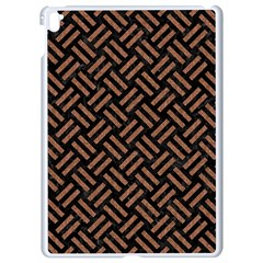 Woven2 Black Marble & Brown Denim (r) Apple Ipad Pro 9 7   White Seamless Case by trendistuff