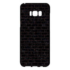 Brick1 Black Marble & Dark Brown Wood (r) Samsung Galaxy S8 Plus Hardshell Case