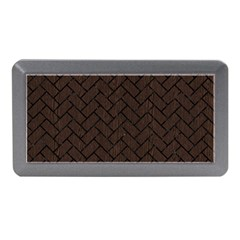Brick2 Black Marble & Dark Brown Wood Memory Card Reader (mini) by trendistuff