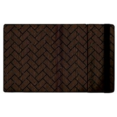 Brick2 Black Marble & Dark Brown Wood Apple Ipad 2 Flip Case by trendistuff