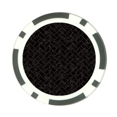 Brick2 Black Marble & Dark Brown Wood (r) Poker Chip Card Guard (10 Pack) by trendistuff