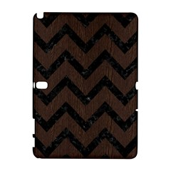 Chevron9 Black Marble & Dark Brown Wood Galaxy Note 1 by trendistuff