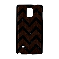 Chevron9 Black Marble & Dark Brown Wood Samsung Galaxy Note 4 Hardshell Case by trendistuff