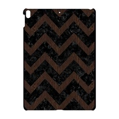 Chevron9 Black Marble & Dark Brown Wood (r) Apple Ipad Pro 10 5   Hardshell Case by trendistuff