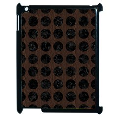 Circles1 Black Marble & Dark Brown Wood Apple Ipad 2 Case (black) by trendistuff