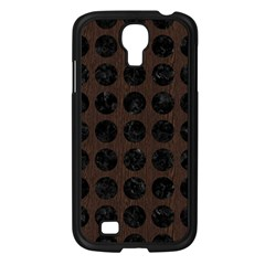 Circles1 Black Marble & Dark Brown Wood Samsung Galaxy S4 I9500/ I9505 Case (black) by trendistuff