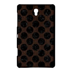 Circles2 Black Marble & Dark Brown Wood Samsung Galaxy Tab S (8 4 ) Hardshell Case