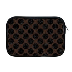 Circles2 Black Marble & Dark Brown Wood Apple Macbook Pro 17  Zipper Case by trendistuff