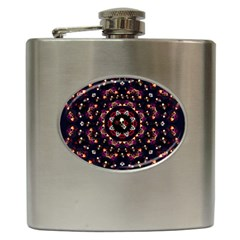 Floral Skulls In The Darkest Environment Hip Flask (6 Oz) by pepitasart