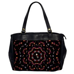Floral Skulls In The Darkest Environment Office Handbags by pepitasart