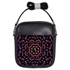 Floral Skulls In The Darkest Environment Girls Sling Bags by pepitasart