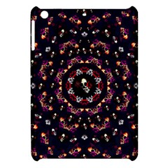 Floral Skulls In The Darkest Environment Apple Ipad Mini Hardshell Case