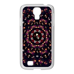 Floral Skulls In The Darkest Environment Samsung Galaxy S4 I9500/ I9505 Case (white) by pepitasart