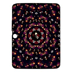 Floral Skulls In The Darkest Environment Samsung Galaxy Tab 3 (10 1 ) P5200 Hardshell Case  by pepitasart