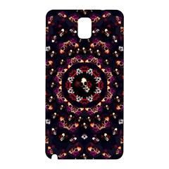 Floral Skulls In The Darkest Environment Samsung Galaxy Note 3 N9005 Hardshell Back Case by pepitasart