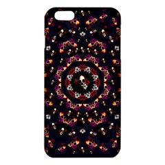 Floral Skulls In The Darkest Environment Iphone 6 Plus/6s Plus Tpu Case by pepitasart