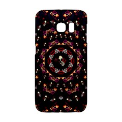Floral Skulls In The Darkest Environment Galaxy S6 Edge by pepitasart